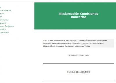 Reclamación Comisiones Bancarias